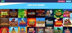 Rise Casino Game Selection