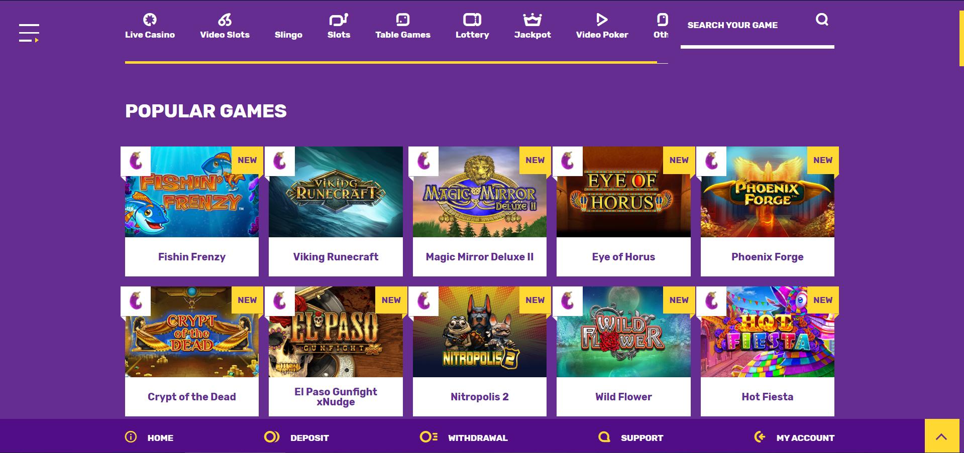 popular games yako casino