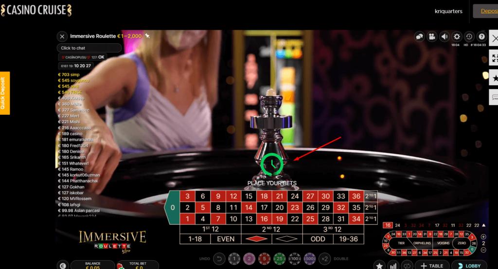 online roulette live dealer